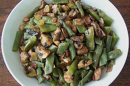 Bohnen - Champignongemüse 4