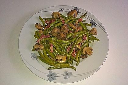 Bohnen - Champignongemüse 3