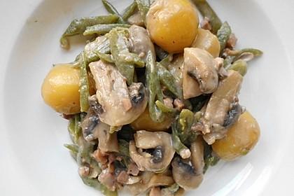 Bohnen - Champignongemüse 7