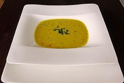 Asiatische Maiscremesuppe mit Curry & Kokosmilch 3