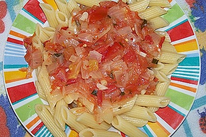 Spaghetti mit pikanter Orangen - Grapefruit - Sauce