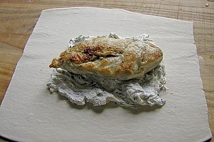 Pikantes Hähnchenbrustfilet in Blätterteigmantel