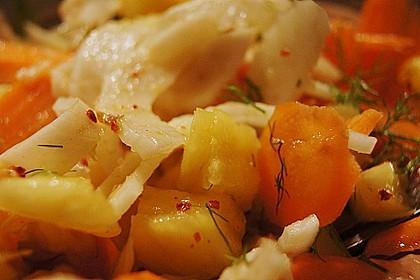 Fenchel - Ananas - Möhren - Salat 2