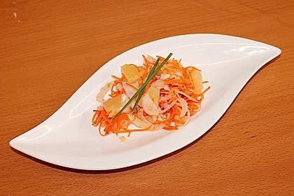 Fenchel - Ananas - Möhren - Salat 4