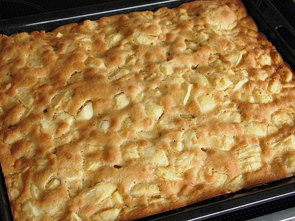 Schneller Apfelkuchen Vom Blech Von Sabbel007 Chefkoch De