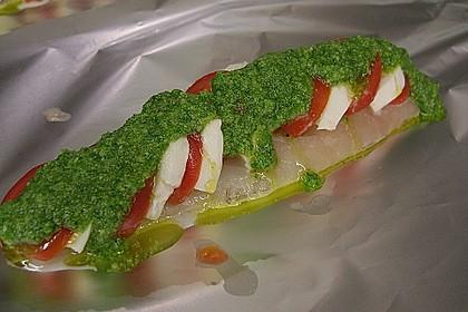 Rotbarsch mit Tomate - Mozzarella in Folie 6