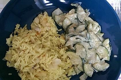 Bananen - Curryreis mit Zucchini 4