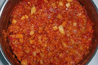 Bolognese von roten Linsen (Bild)