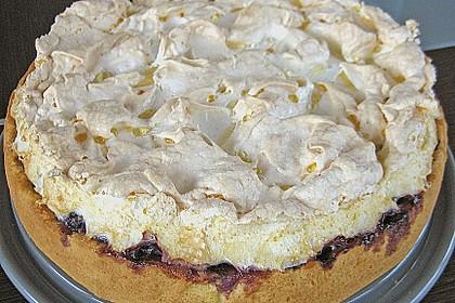 Laras Heidelbeer - Kokos - Kuchen mit Baiser 4
