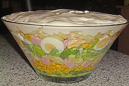 Fruchtig - pikanter Schichtsalat 2