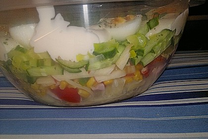 Fruchtig - pikanter Schichtsalat 32
