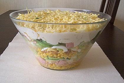 Fruchtig - pikanter Schichtsalat 12