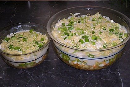 Fruchtig - pikanter Schichtsalat 4