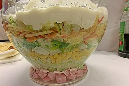 Fruchtig - pikanter Schichtsalat 9