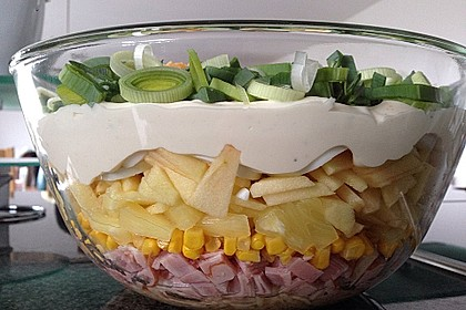 Fruchtig - pikanter Schichtsalat 10