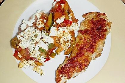 Puten - Parmesan - Schnitzel mit Feta - Gemüsepfanne 1