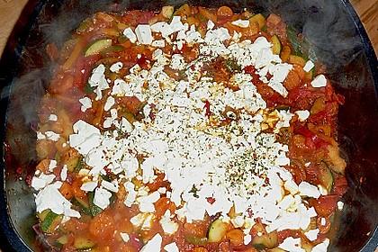 Puten - Parmesan - Schnitzel mit Feta - Gemüsepfanne 2