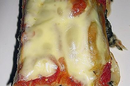 Cannelloni mit Spinat - Schafskäse - Füllung