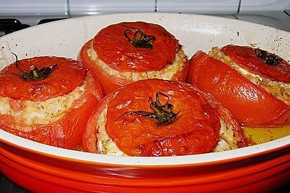 Tomaten gefüllt mit Risotto - Schafskäse 1