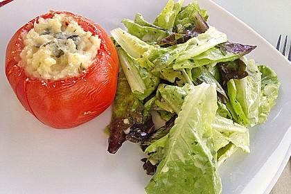 Tomaten gefüllt mit Risotto - Schafskäse