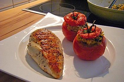 Tomaten gefüllt mit Risotto - Schafskäse 2