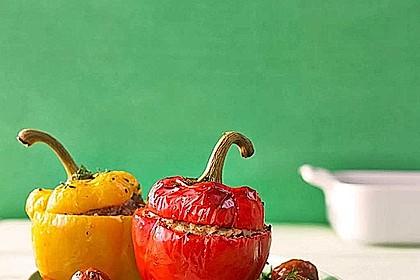 Tomaten gefüllt mit Risotto - Schafskäse 4