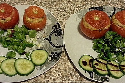 Tomaten gefüllt mit Risotto - Schafskäse 6