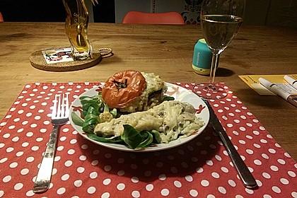 Tomaten gefüllt mit Risotto - Schafskäse 3