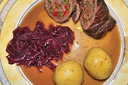 Rinderroulade mit Paprika - Bohnen - Füllung 3
