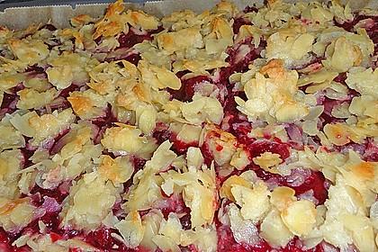 Butterkuchen mit roter Grütze 11
