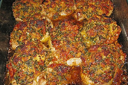 Schweinefiletmedaillons mit Parmesan - Tomaten - Kruste 8