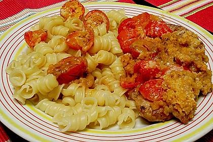 Schweinefiletmedaillons mit Parmesan - Tomaten - Kruste 15