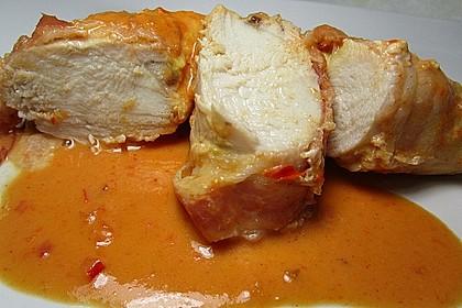 Hähnchenbrust in Chili - Sahnesauce