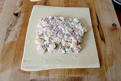 Schinken - Käse Blätterteigtaschen 11