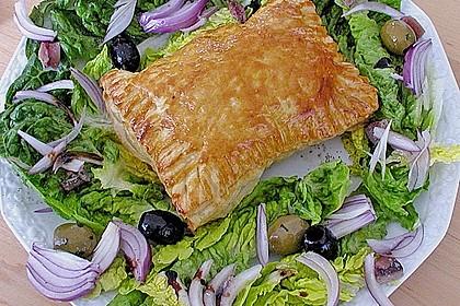 Schinken - Käse Blätterteigtaschen 4