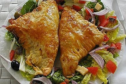 Schinken - Käse Blätterteigtaschen 1