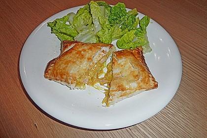 Schinken - Käse Blätterteigtaschen 9