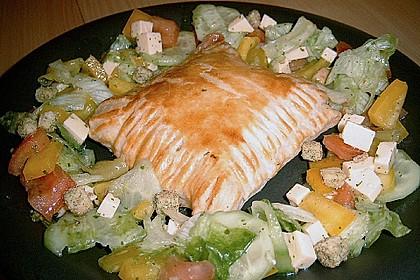 Schinken - Käse Blätterteigtaschen 3