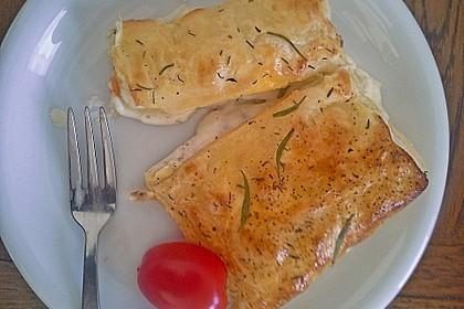 Schinken - Käse Blätterteigtaschen 5