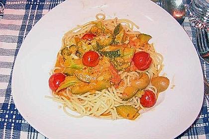 Brokkoli - Pasta mit Tomatensahne 2