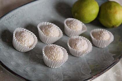 Erfrischende Limetten - Kokosnuss - Trüffel 1