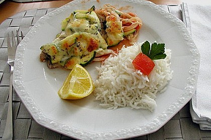 Kabeljau mit Zucchini - Mozzarella - Kruste 1