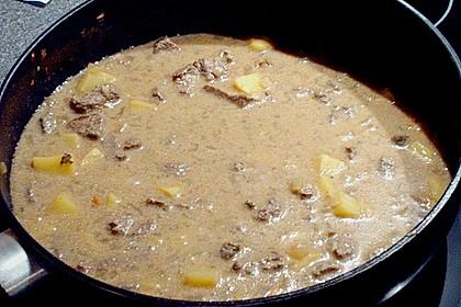 Lammfleisch in Chili - Joghurt - Sauce