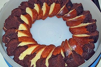 Marmorkuchen im Gugelhupf 7