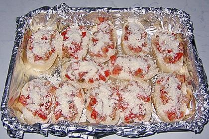 Toast mit Thunfisch, Tomaten und Paprika 1