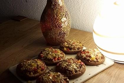 Pizza - Hackfleisch - Brötchen 3