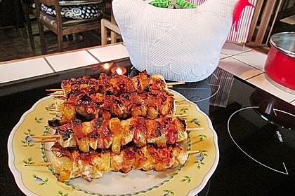 Hähnchen-Ananas Spieße 1