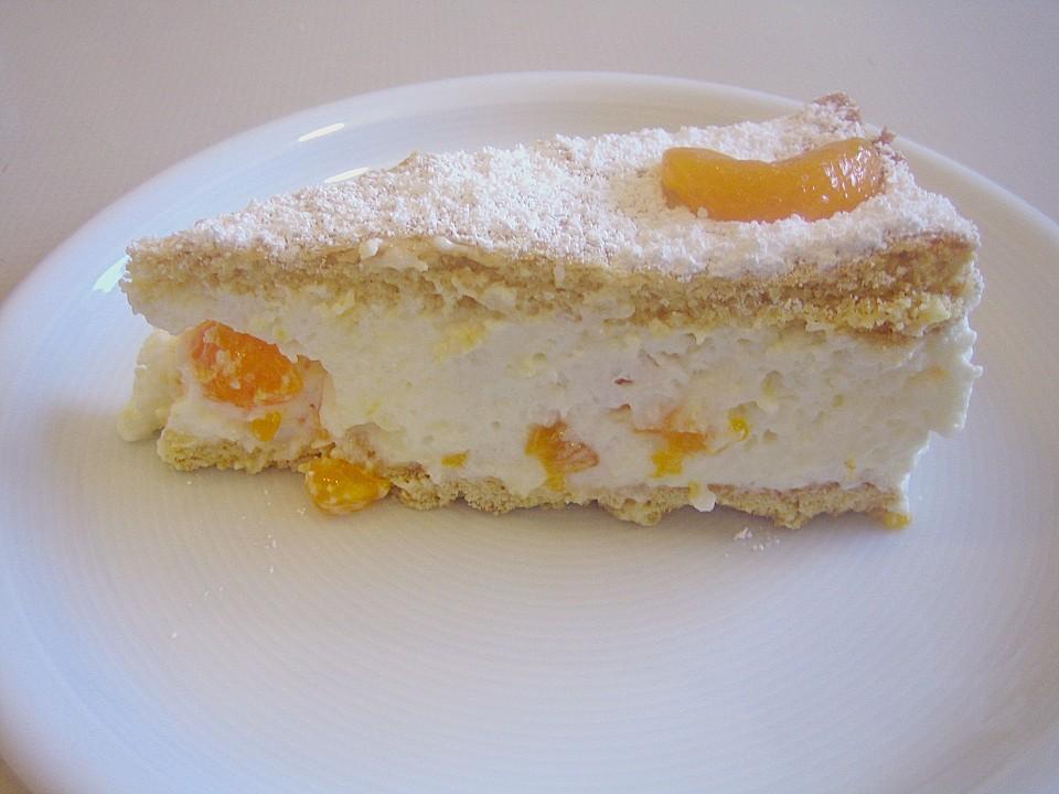 Quark Sahne Torte Mit Mandarinen Gedeckt Von Schrat Chefkoch De