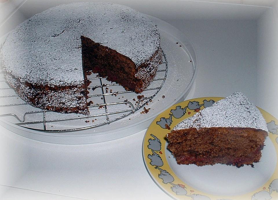 Rotweinkuchen Mit Gewurzen Und Kirschen Von Backsuchtig Chefkoch De