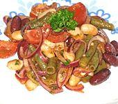 Bohnensalat Dreierlei mit feurigem Dressing (Bild)